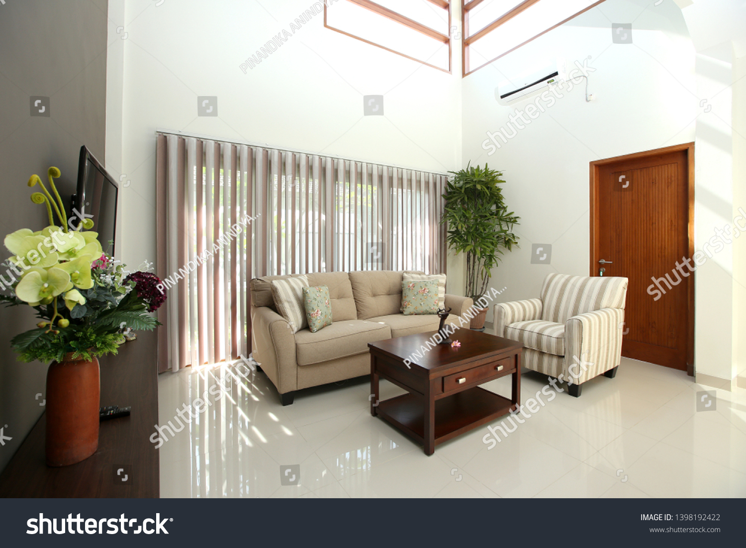 living room in modern house  with the modern furniture #1398192422