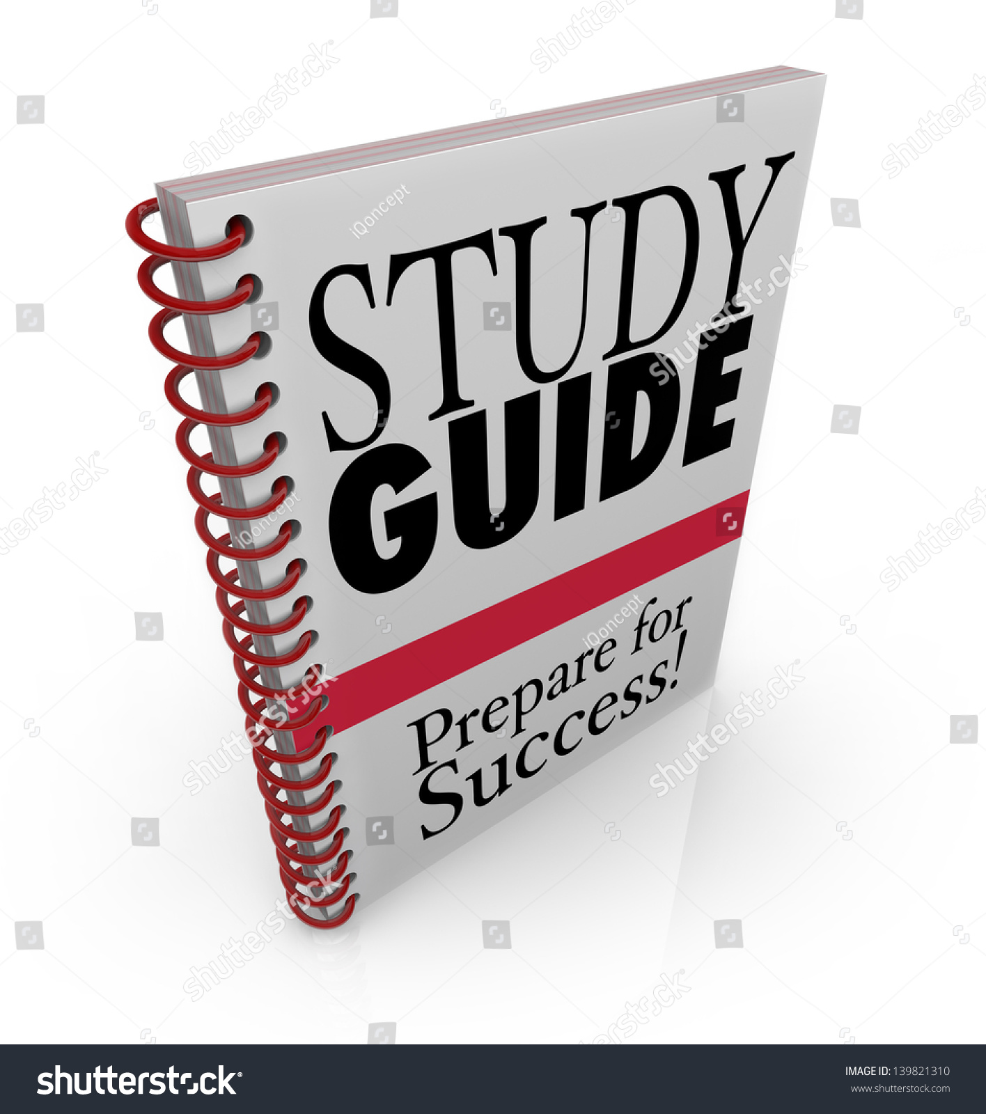 Book Cover Graphism Guide : Study guide book cover preparing success stock