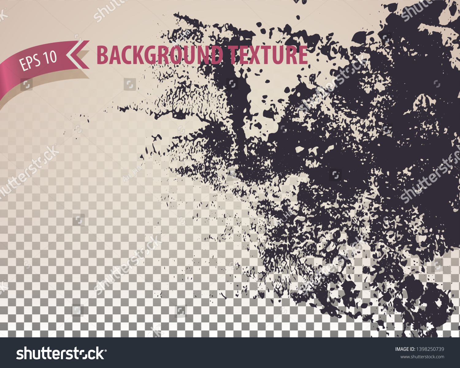 Rough Rusty Overlay Texture Distressed Effect Stock Vector Royalty Free 1398250739
