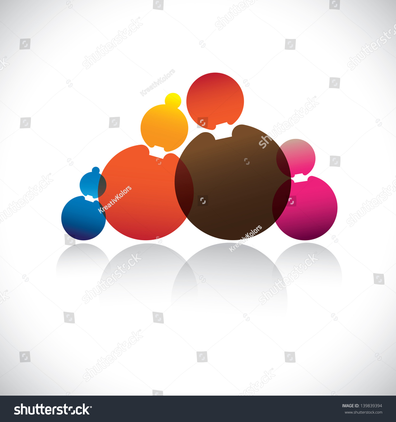 Family fathermotherson daughter abstract vector graphic stock family of fathermotherson daughter abstract vector graphic these colorful buycottarizona