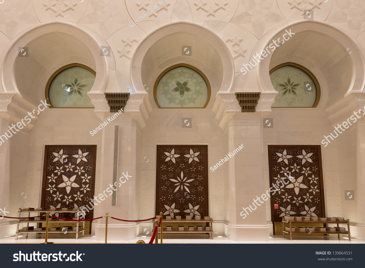 Interior Design Sheikh Zayed Grand Mosque Buildings Landmarks Stock Image 139864531