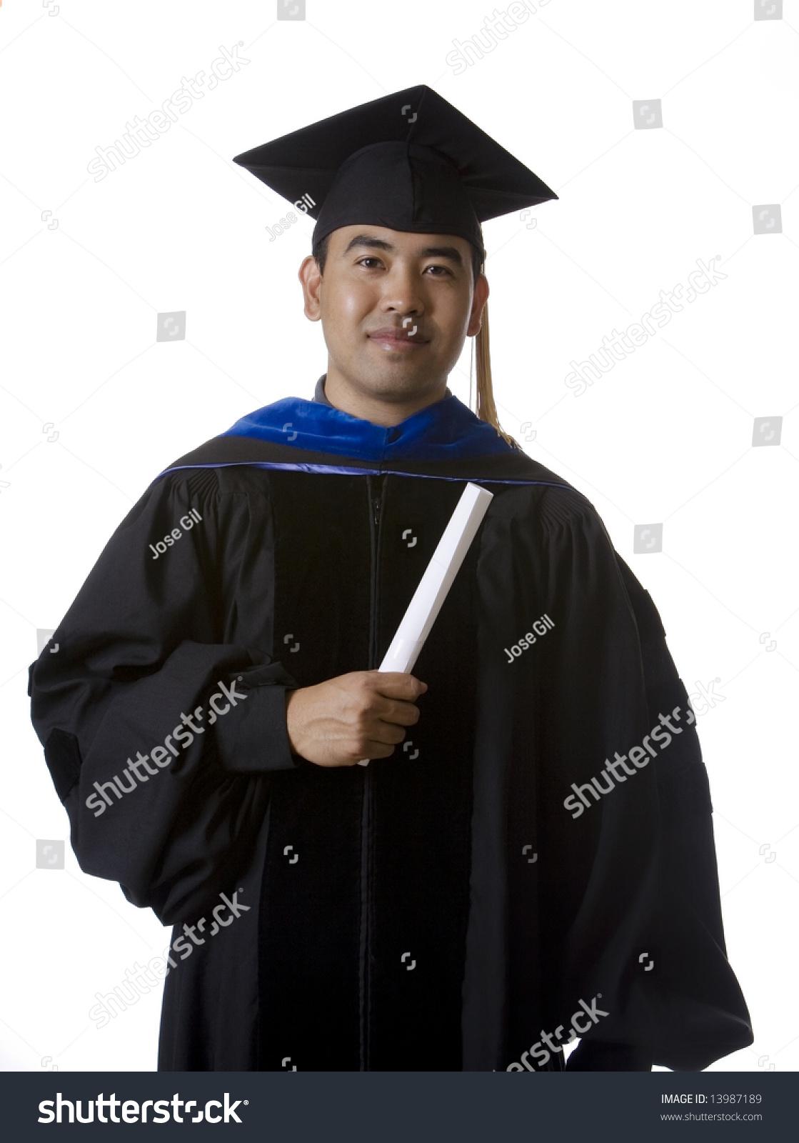Model Doctoral Masters Graduation Robes Regalia Stock Photo (Edit ...
