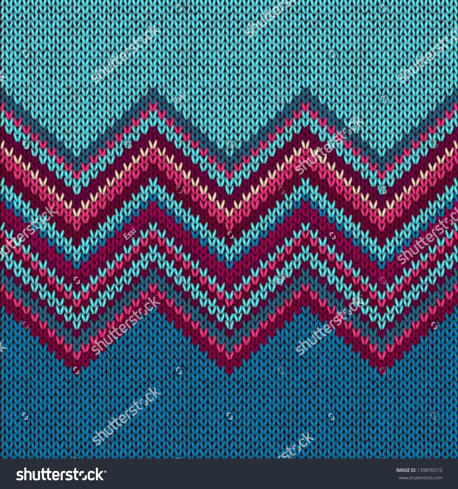 Knitting Patterns For Texture : Knitted Seamless Fabric Pattern Beautiful Red Stock Vector 139876510 - Shutte...