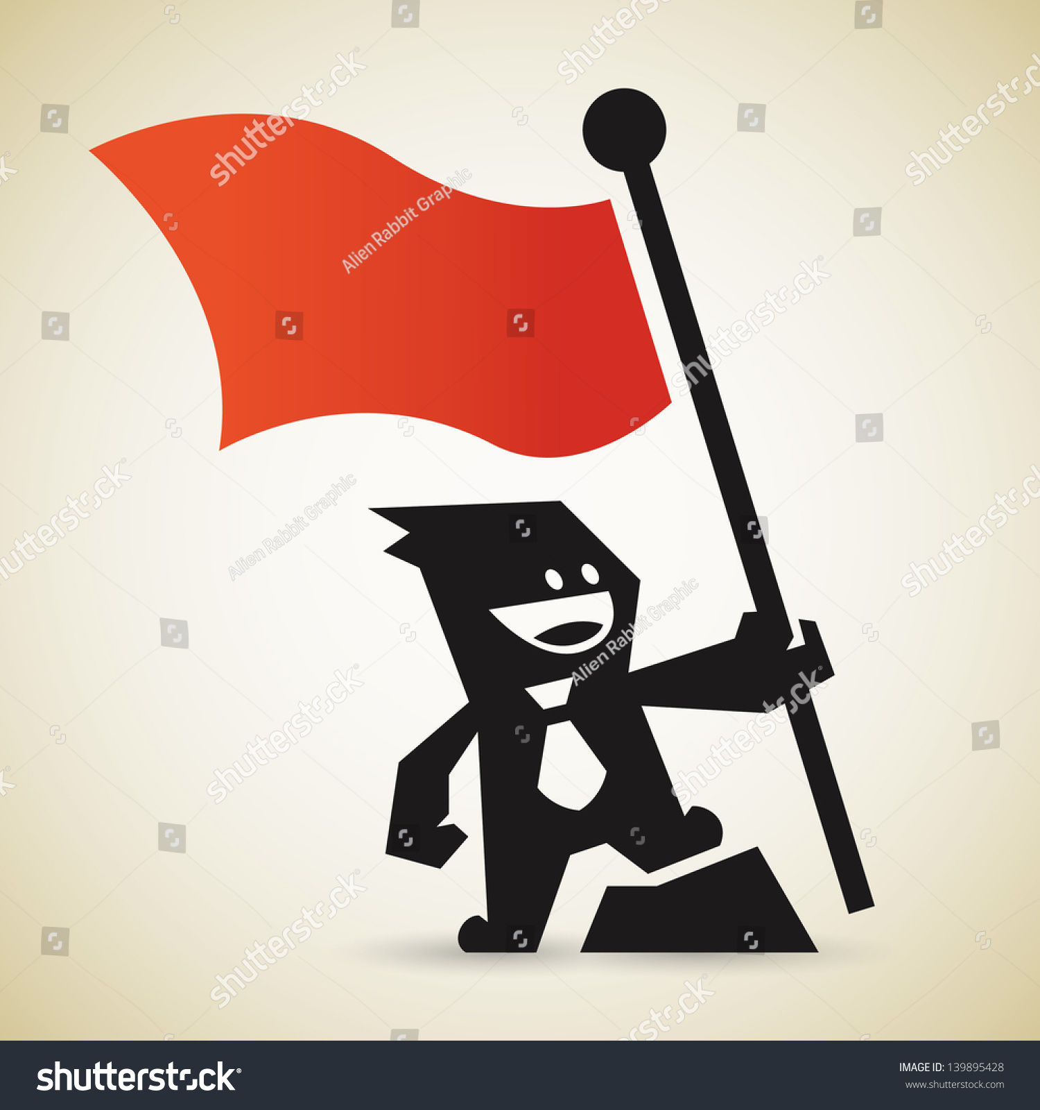 Capture the flag stock vector illustration 139895428 for Capture the flag