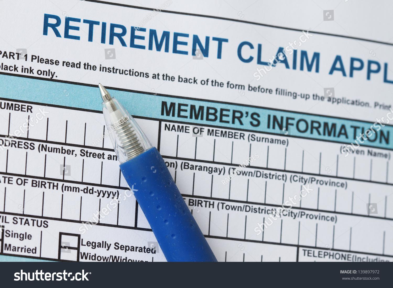 Retirement Claim Form Stock Photo 139897972 - Shutterstock