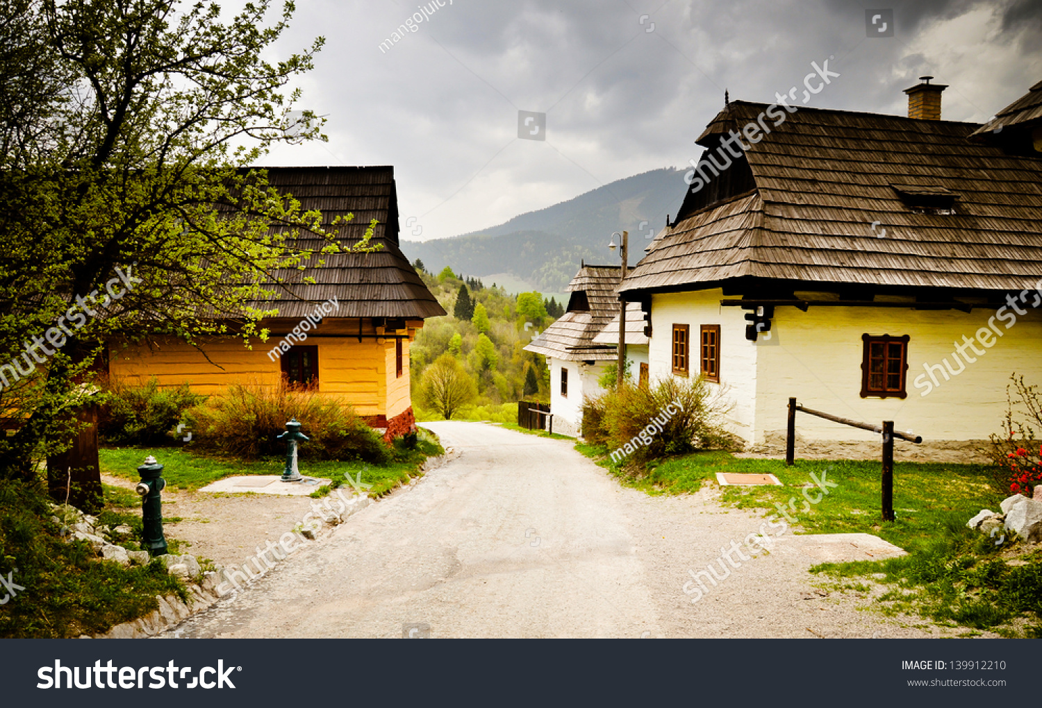 Old houses of traditional village in slovakia europe for Old traditional houses