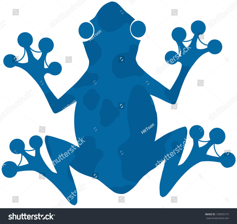 蓝色斑点青蛙剪影标志 矢量图 动物 野生生物,符号 标志 海洛创意