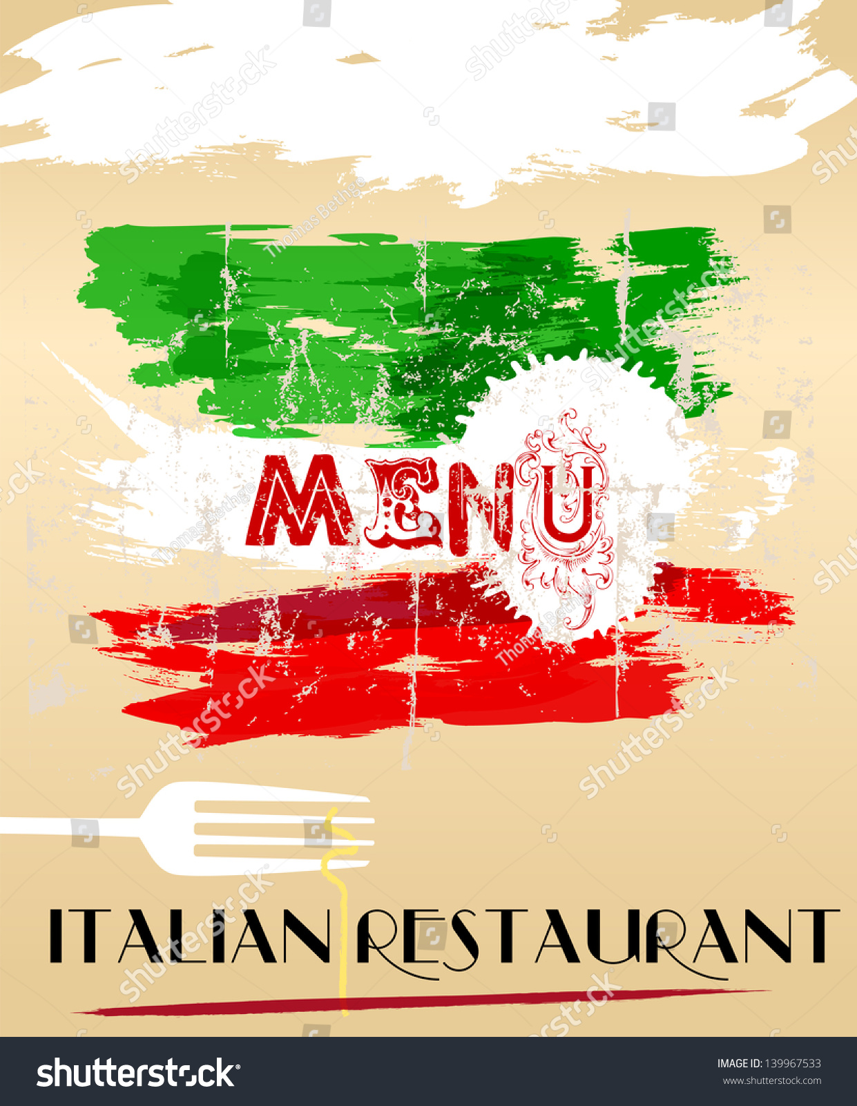 Italian Restaurant Names: Menu Design For Italian Restaurant, Free Space For