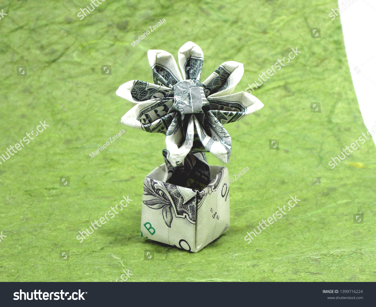 Money Origami, Flower Edition: 10 Different Ways to Fold a Dollar ... | 1225x1500