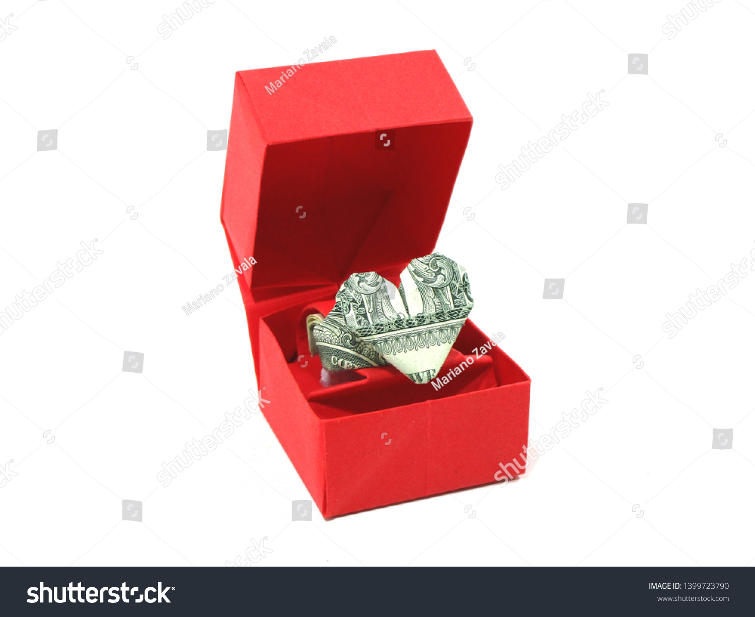 Dollar Origami|How to fold heart ring with one dollar - YouTube | 1225x1500