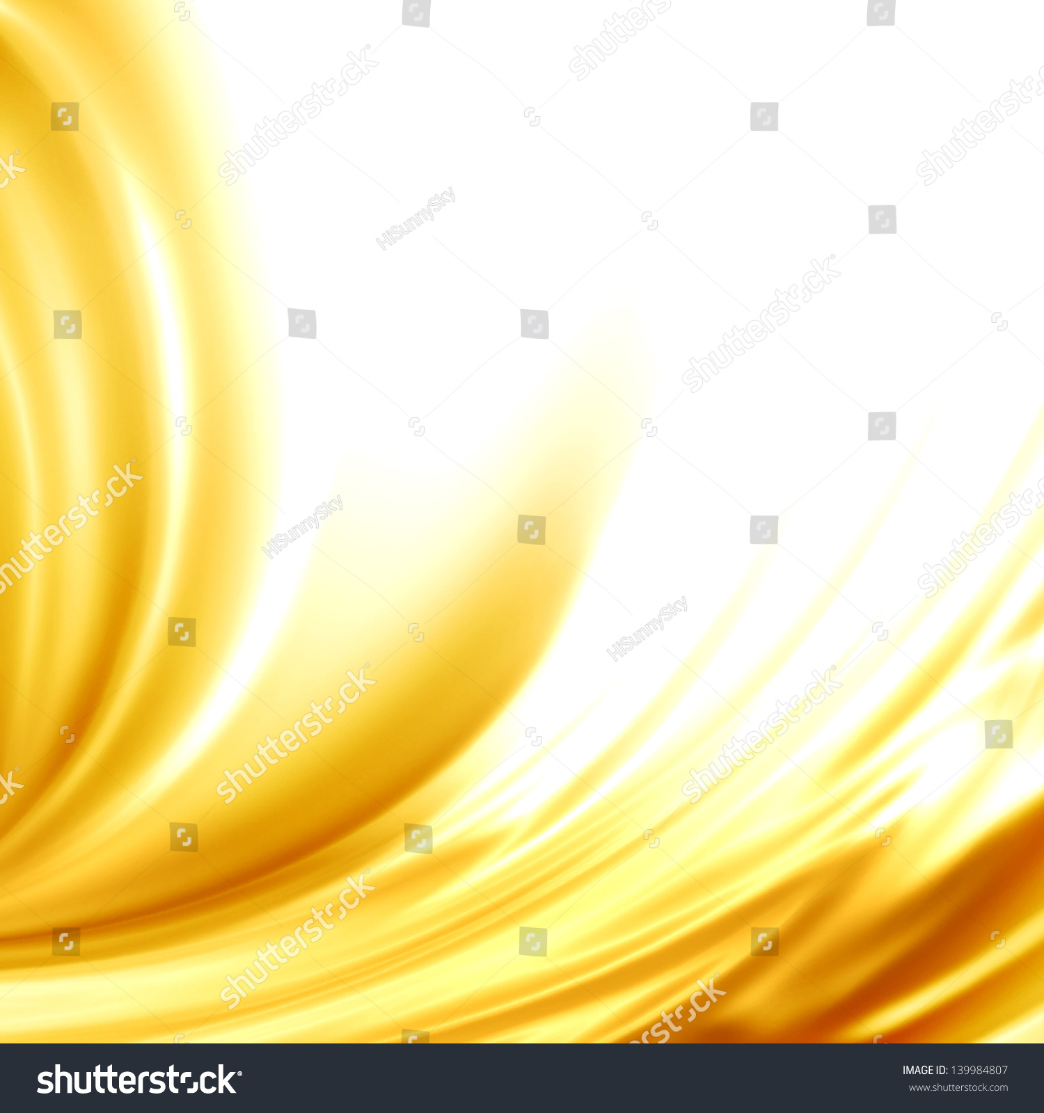 Abstract Background Golden Satin Silk Frame Stock