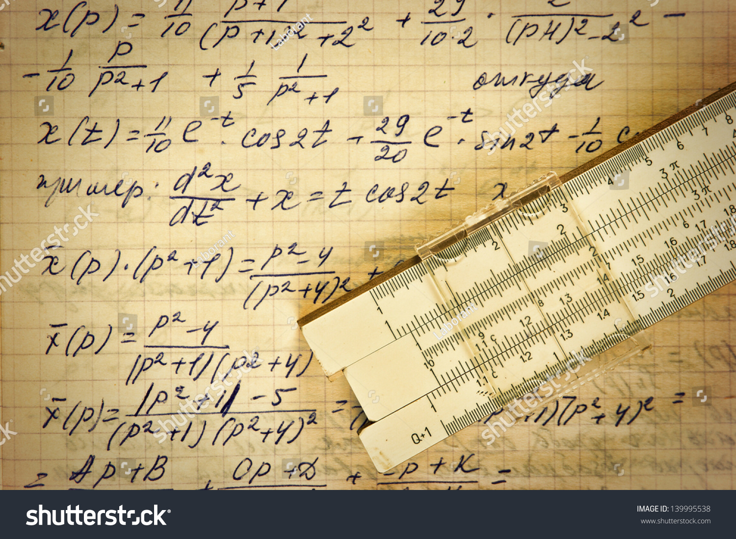 page old vintage paper calculation mathematics stock photo edit now
