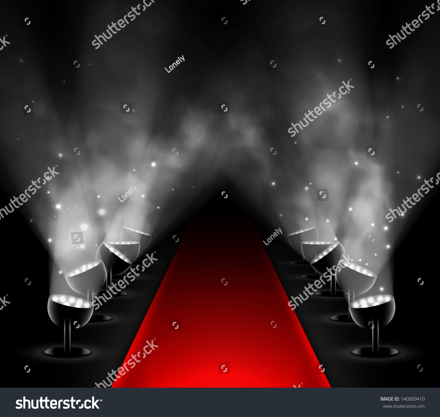 Red Carpet Spotlights Eps 10 Stock Vector 140009410 ...
