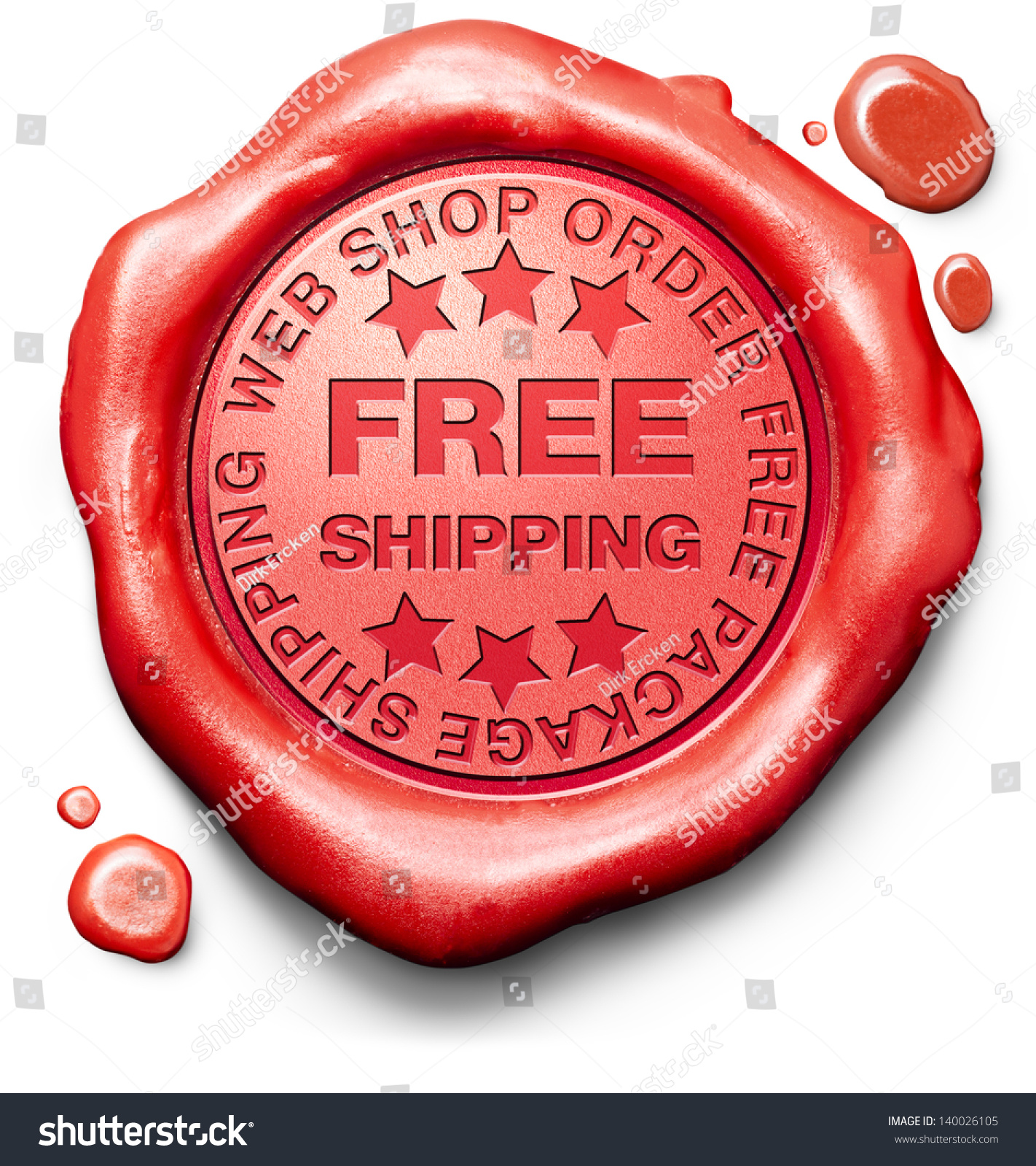 free shipping package delivery online order stock illustration