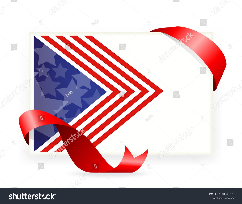 American Flag Business Cards Ribbon Stock Illustration 140043781 ...
