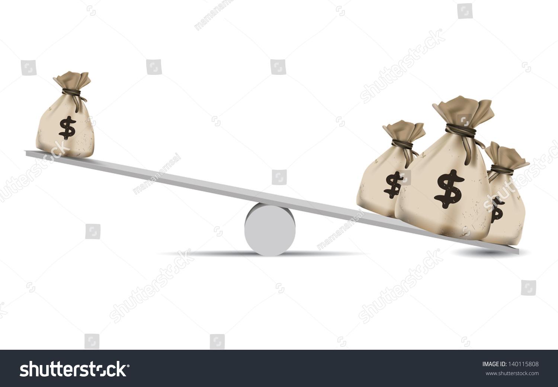 Moneybalance Scalefinance Conceptvector Stock Vector ...