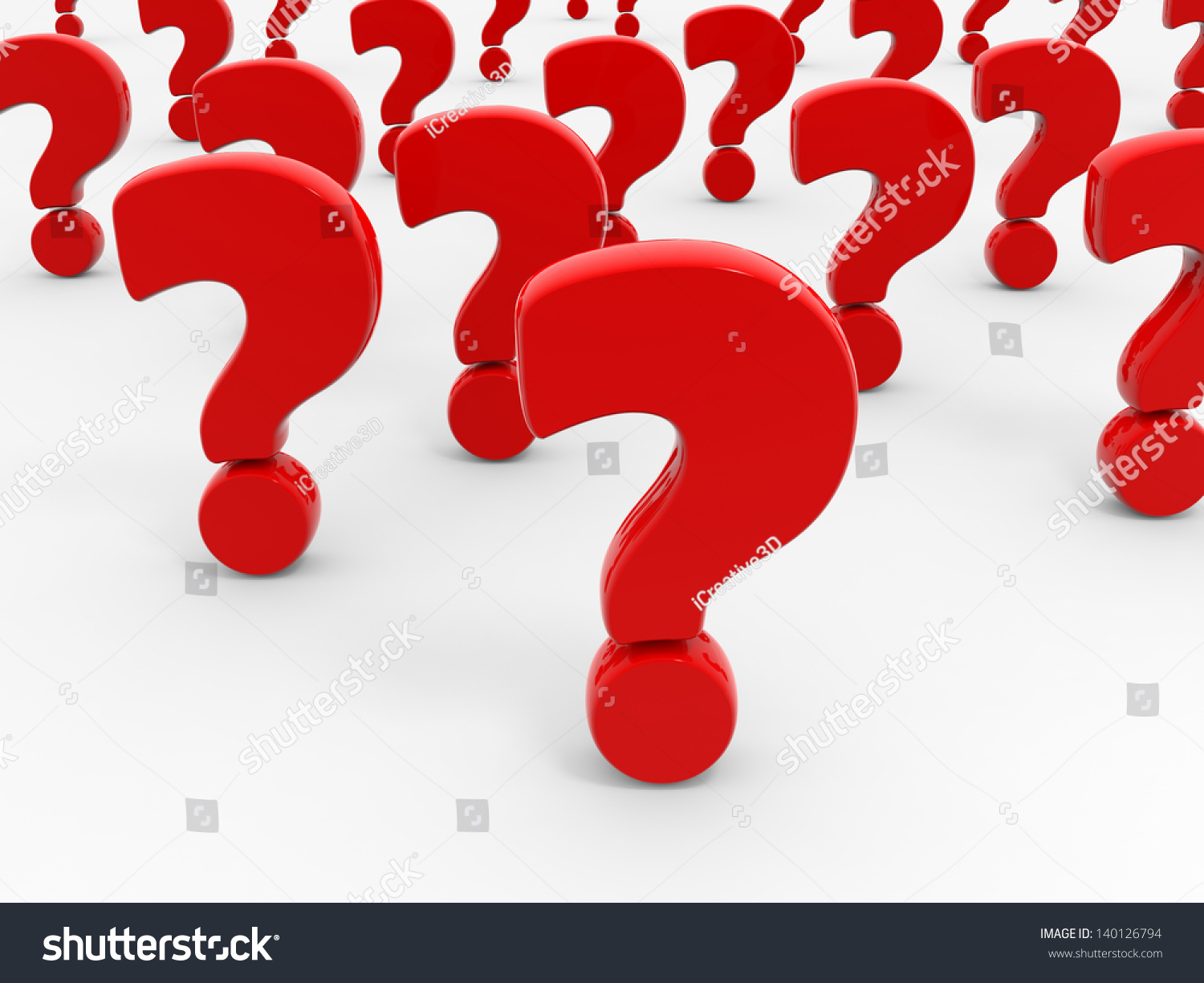 Red Question Marks On White Background Stock Illustration ...
