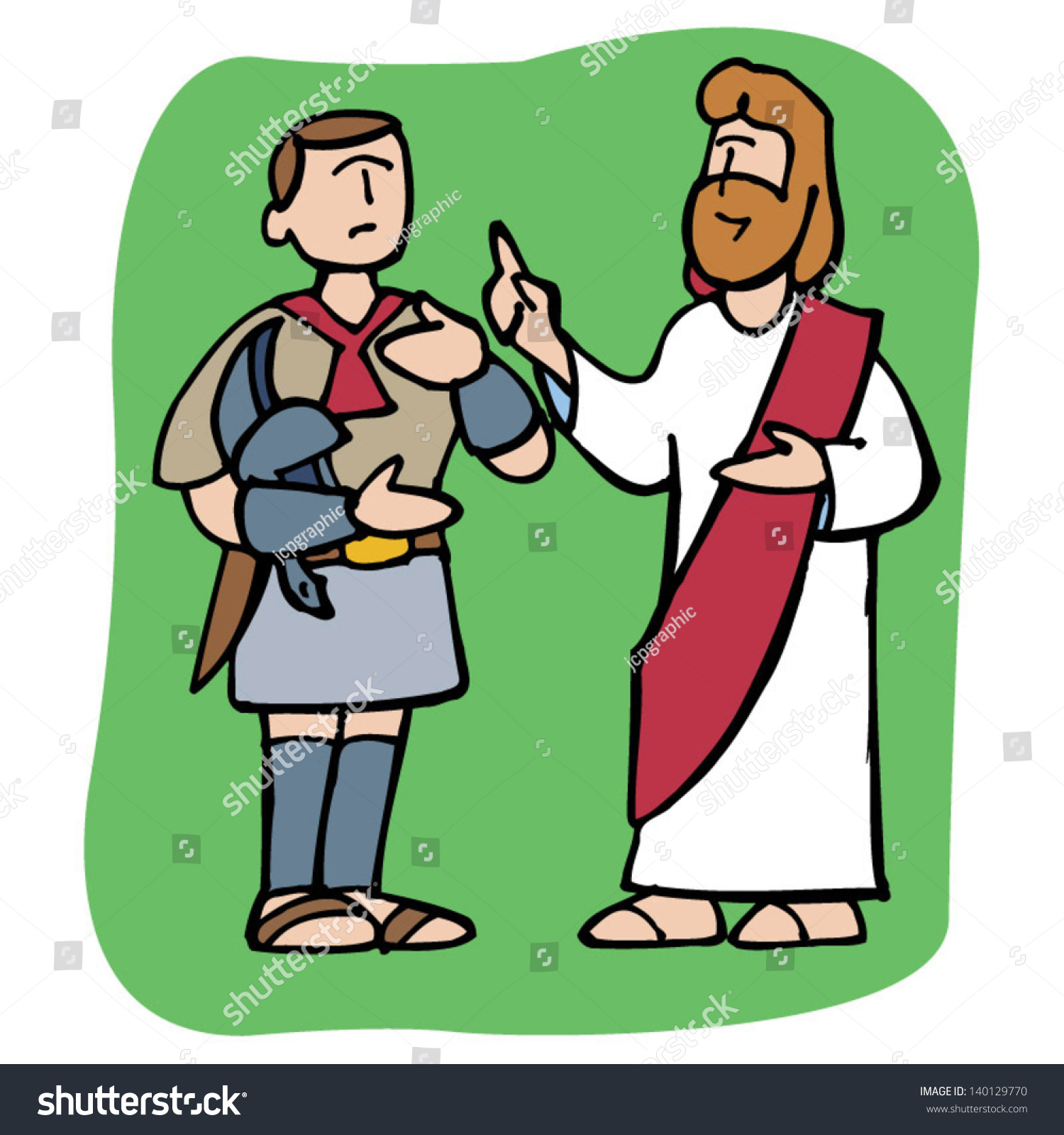 Jesus Christ Preach To A Roman Centurion