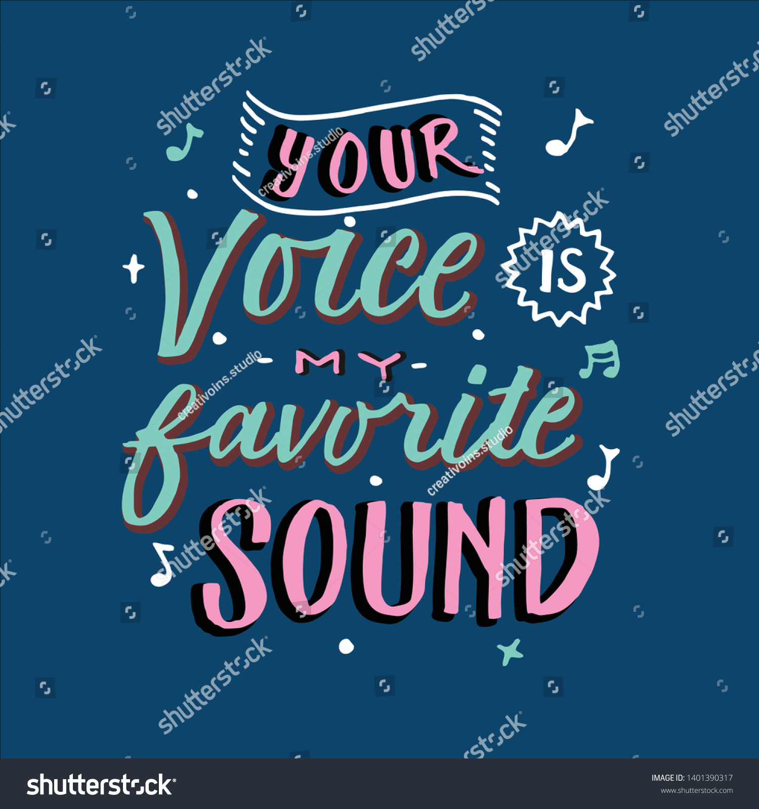 Vector De Stock Libre De Regalías Sobre Your Voice My