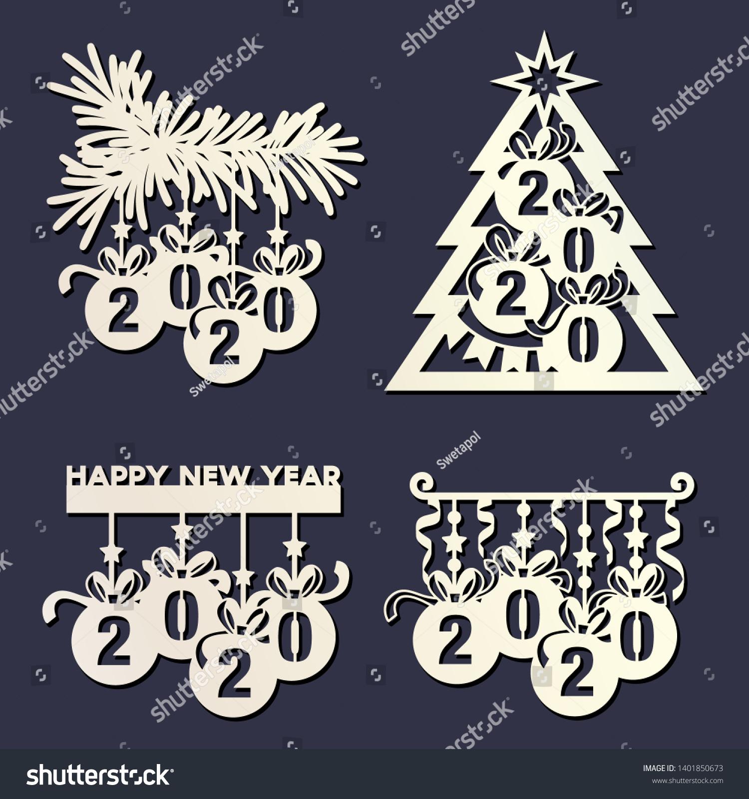 Paquete De Plantilla De Arco De Navidad
