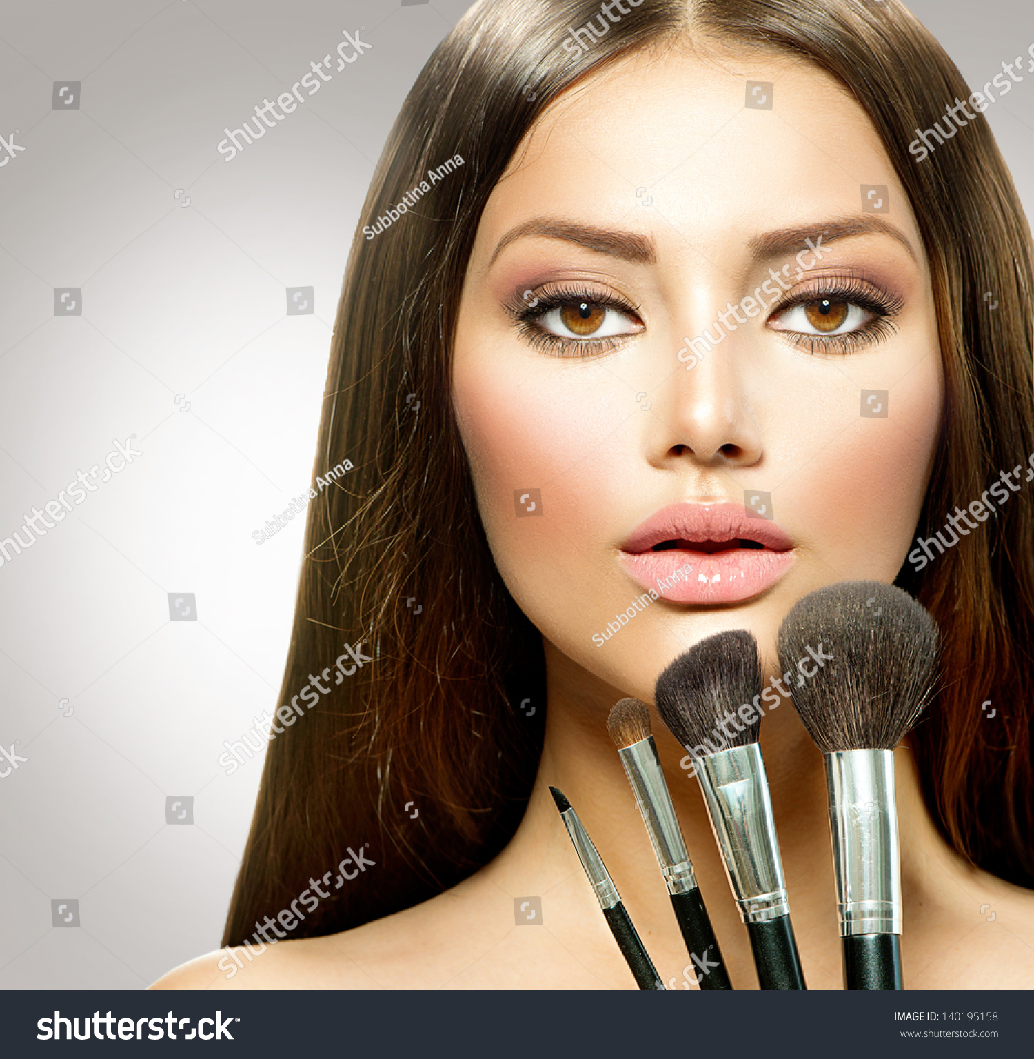 beauty girl face make - photo #26