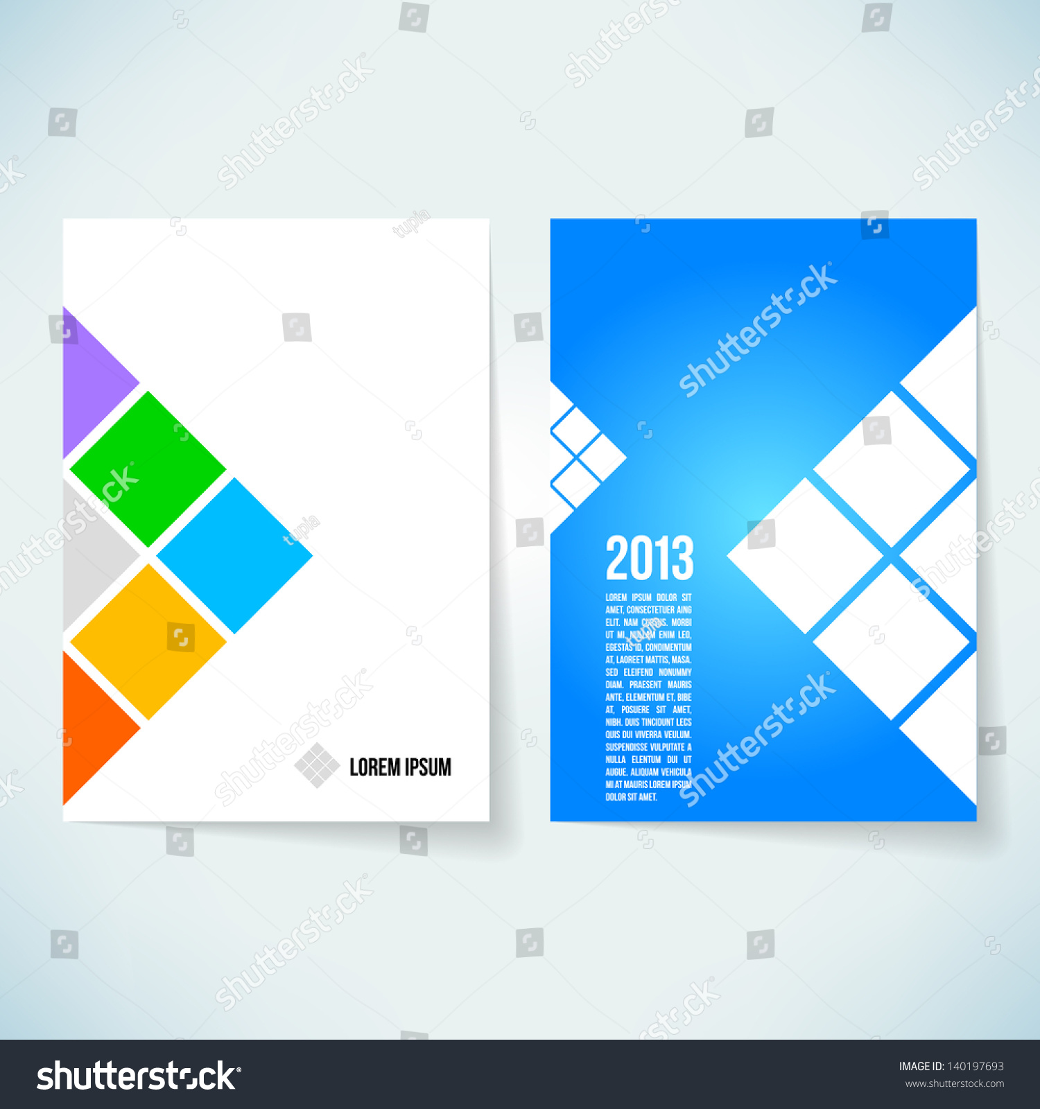 Brochure cover design vector template stock vector for Personal profile design templates