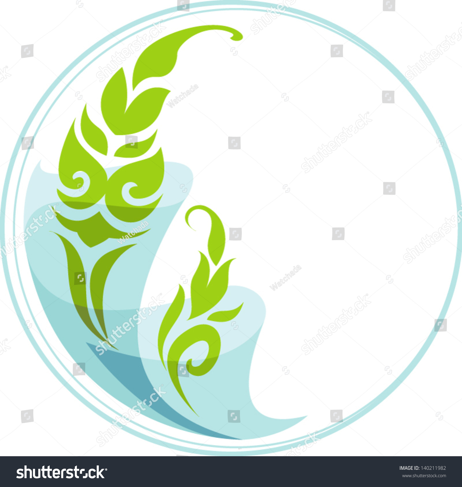 Plants water symbol style meaning exuberance stock vector 140211982 plants and water in symbol style the meaning of exuberance and decorative object in biocorpaavc Gallery
