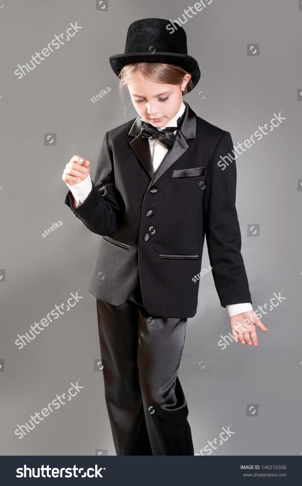 girls in tuxedo