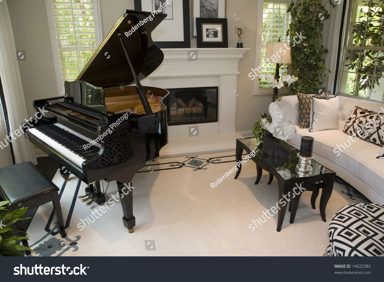 american living room piano - photo #23