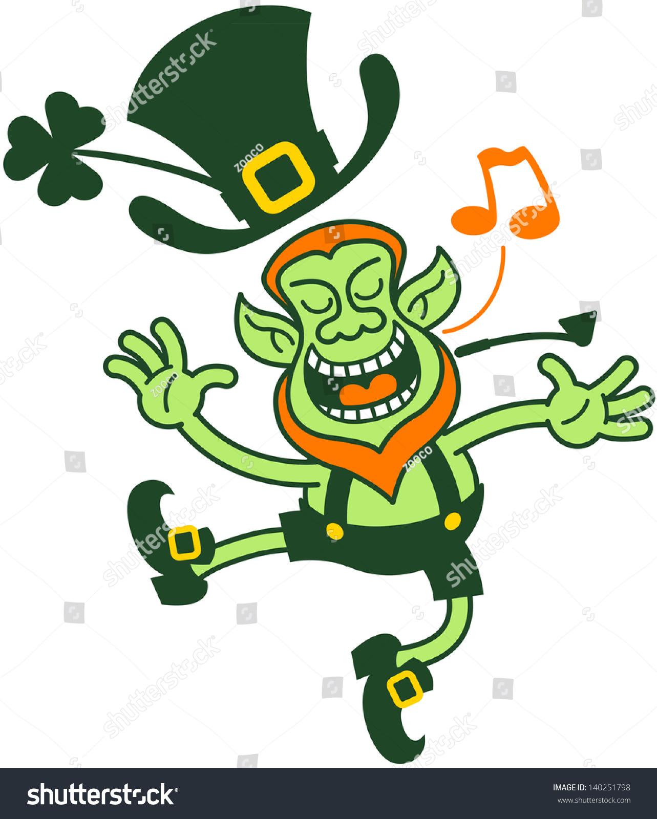 Uncategorized Animated Leprechaun saint patricks day leprechaun singing dancing stock vector and in an animated proud way