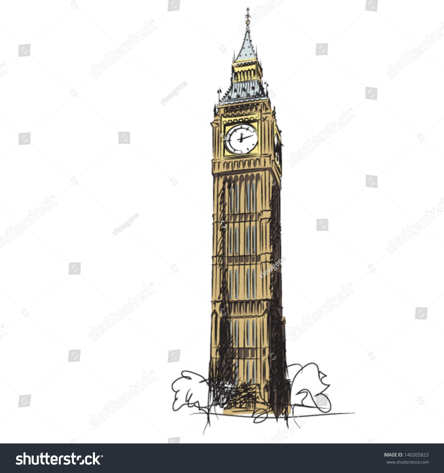 London Clock Drawing