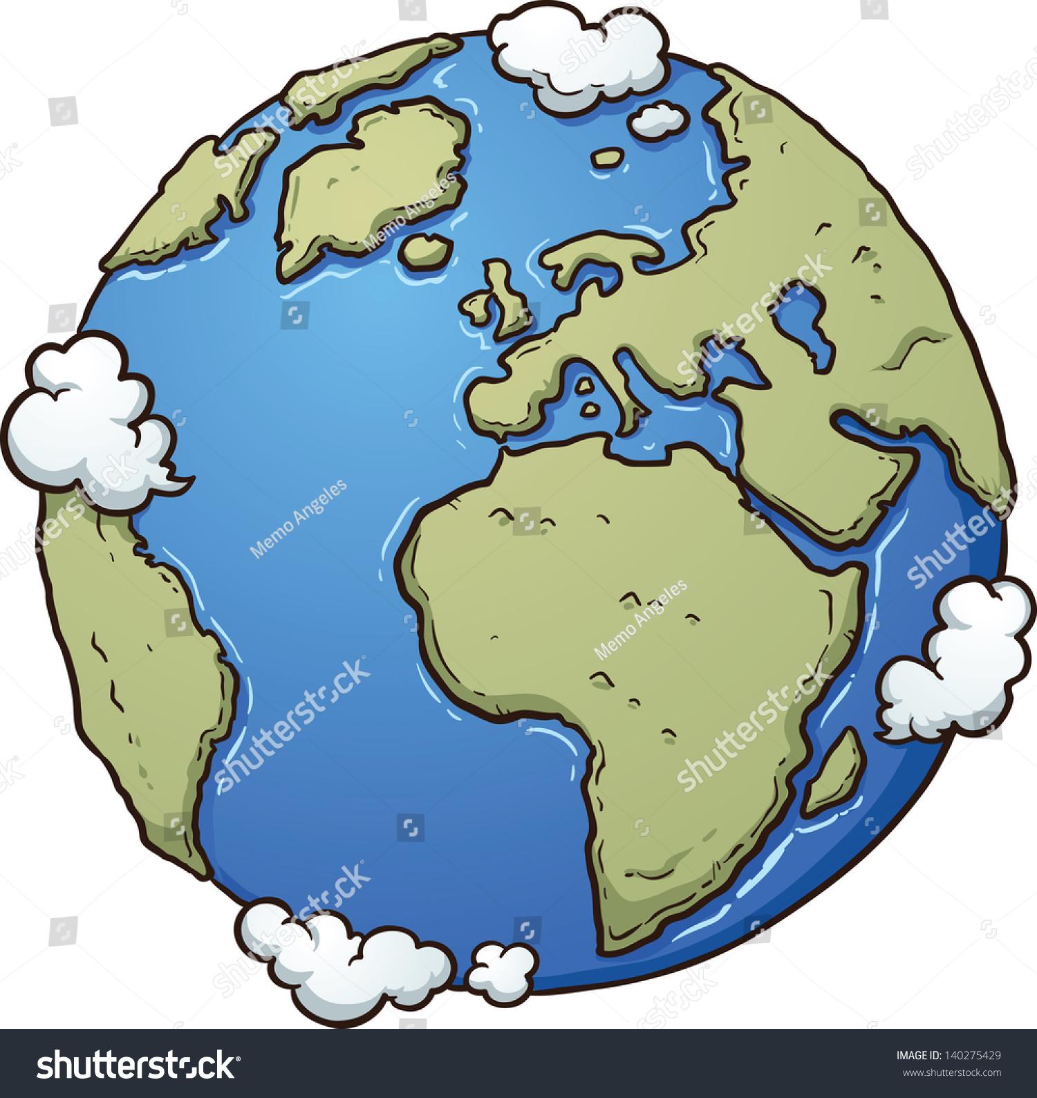 Cartoon Earth Vector Clip Art Illustration Stock Vector