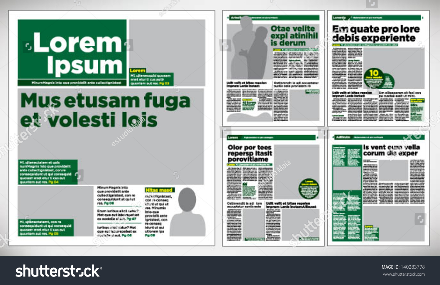 graphical design newspaper template stock vector  graphical design newspaper template