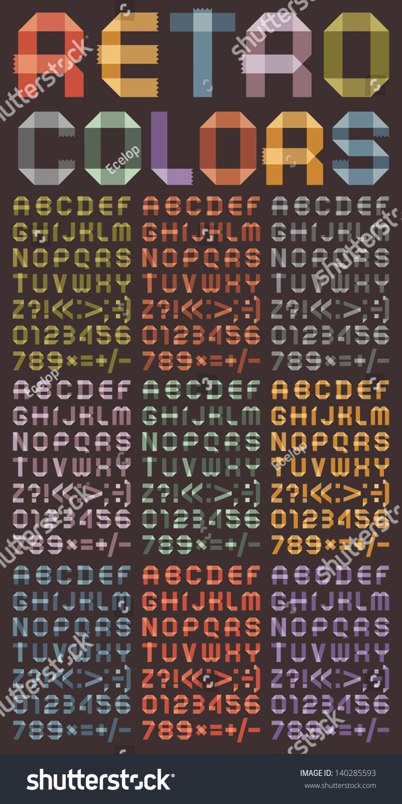 Nine Different Ways You Can Put Your Goals In Writing: Arabic Numerals And Roman Alphabet. Alphabet Folded Of