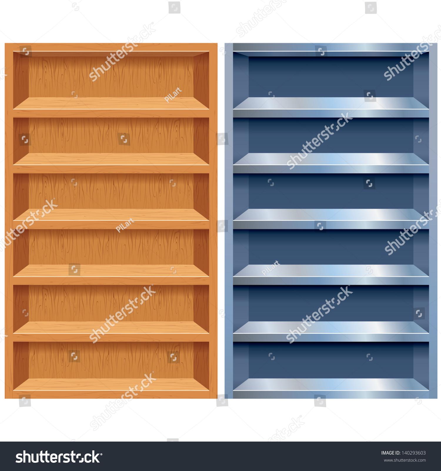 Empty Wooden Steel Cabinet Vector Design Stock Vector 140293603 ...