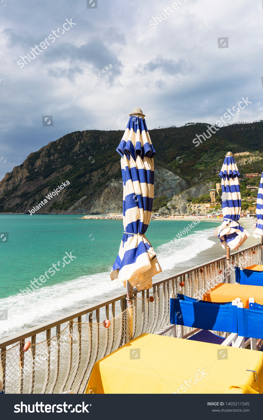 View On Beach Sea Restaurant Turquoise Stock Photo Edit Now 1403211545