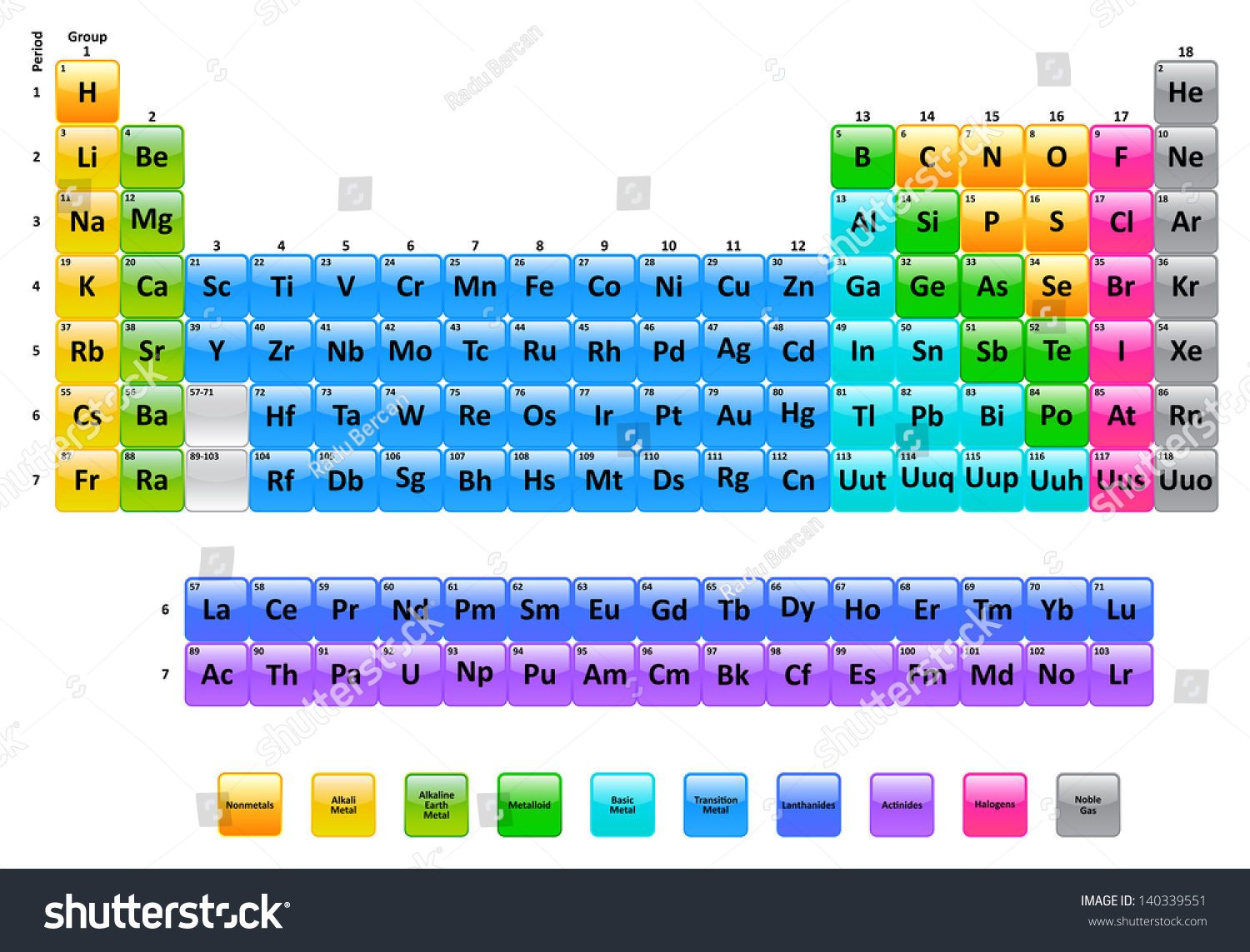 Periodic table elements stock vector 140339551 shutterstock periodic table of elements gamestrikefo Images