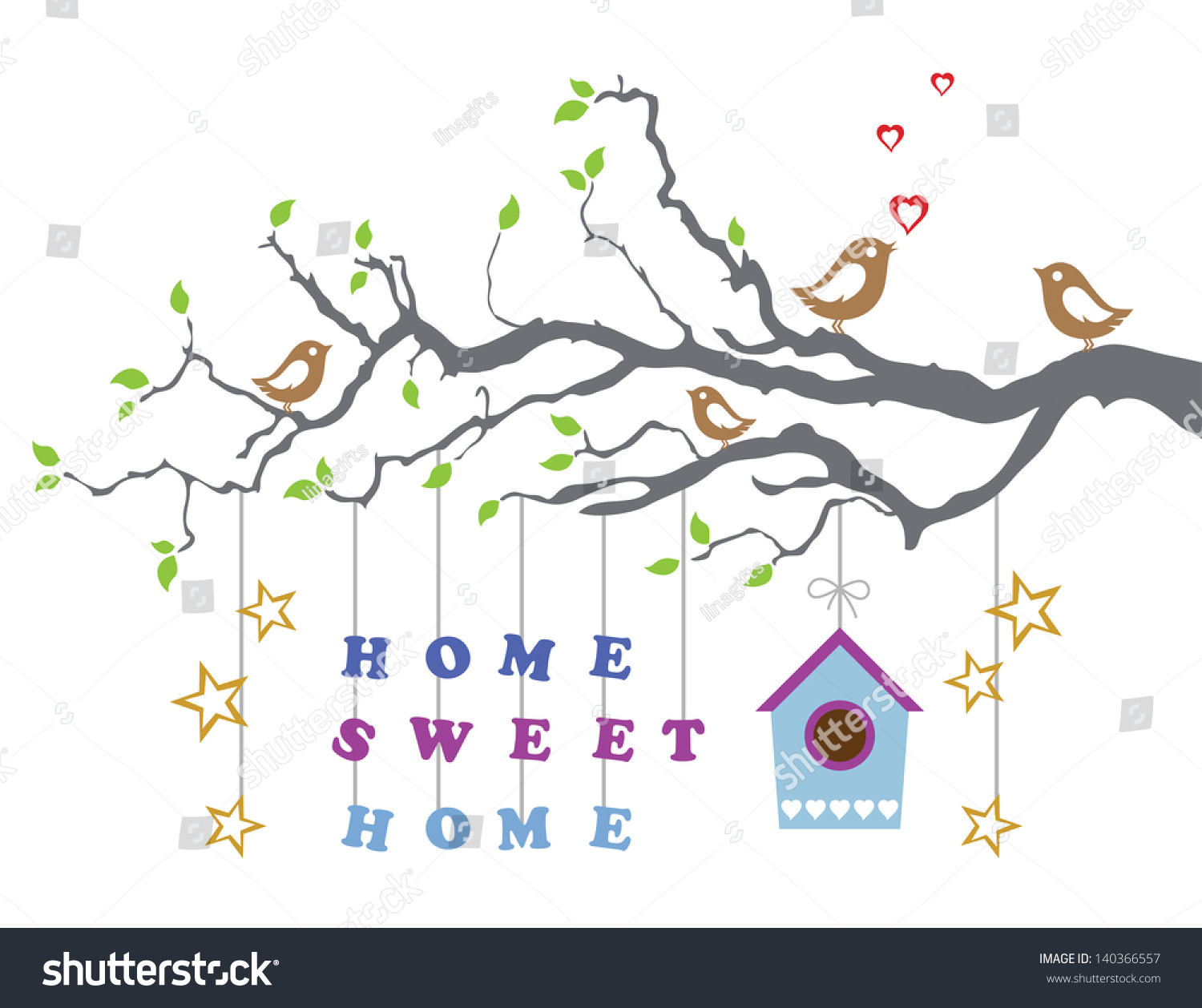 Home sweet home movingin new house stock vector royalty free home sweet home moving in new house greeting card this image is a vector m4hsunfo