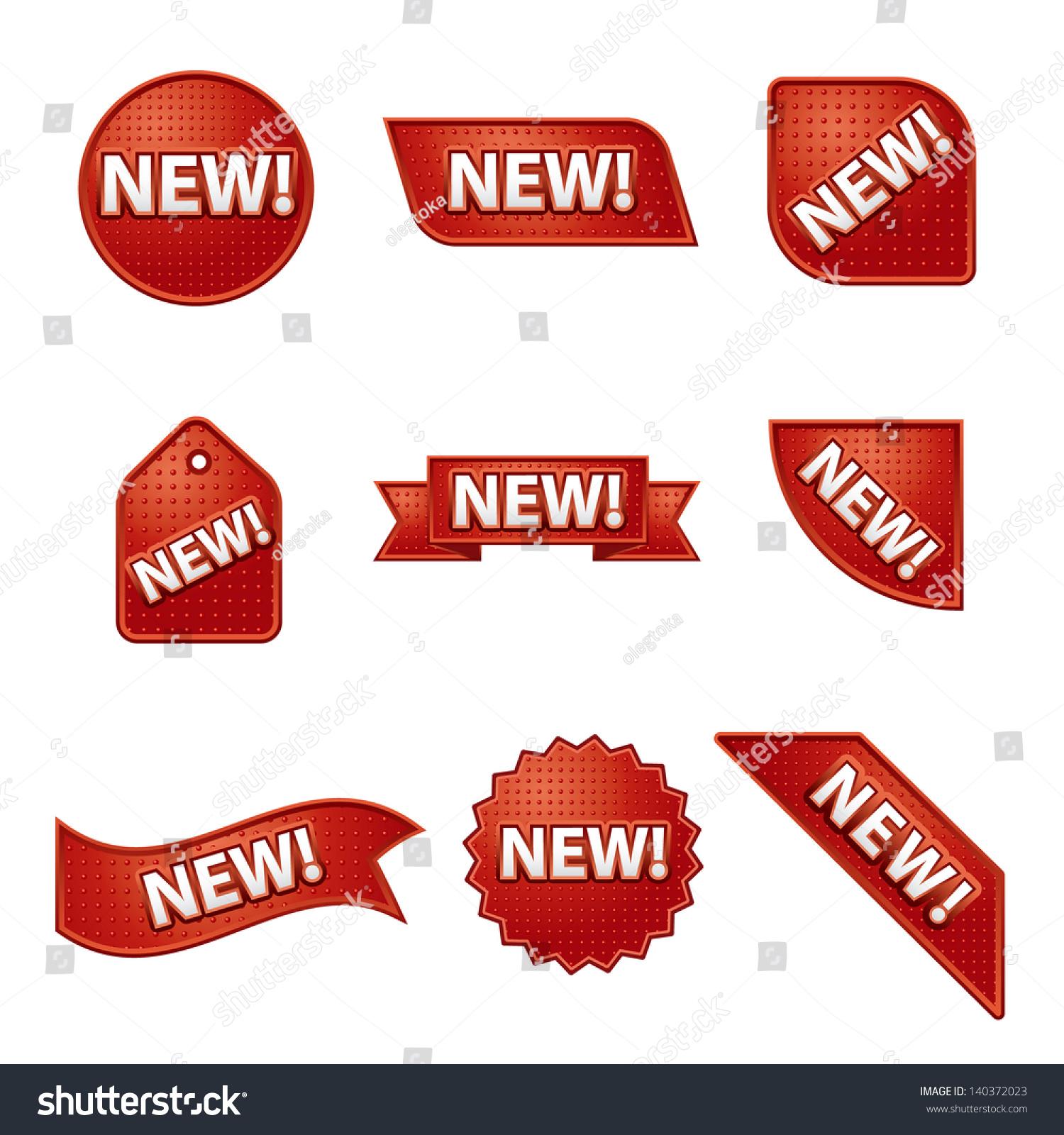 new label sticker set stock vector 140372023 shutterstock