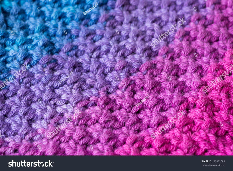 Close Double Moss Stitch Knitting Pattern Stock Photo (Edit Now ...