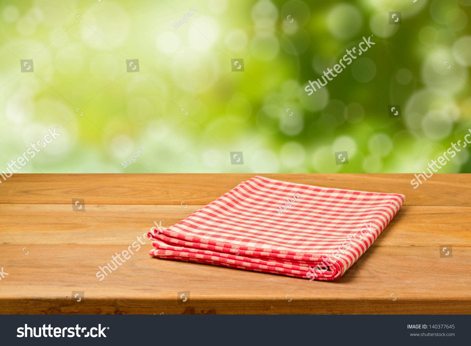 Picnic Table Background beautiful background empty wooden table tablecloth stock photo