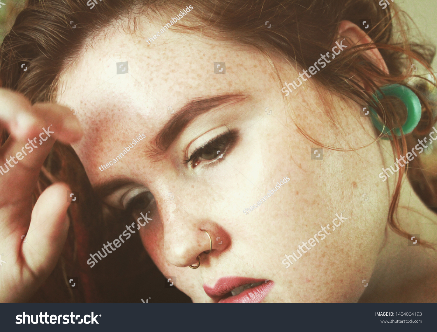 Freckles Fair Skin Young Female Natural Stock Photo Edit Now