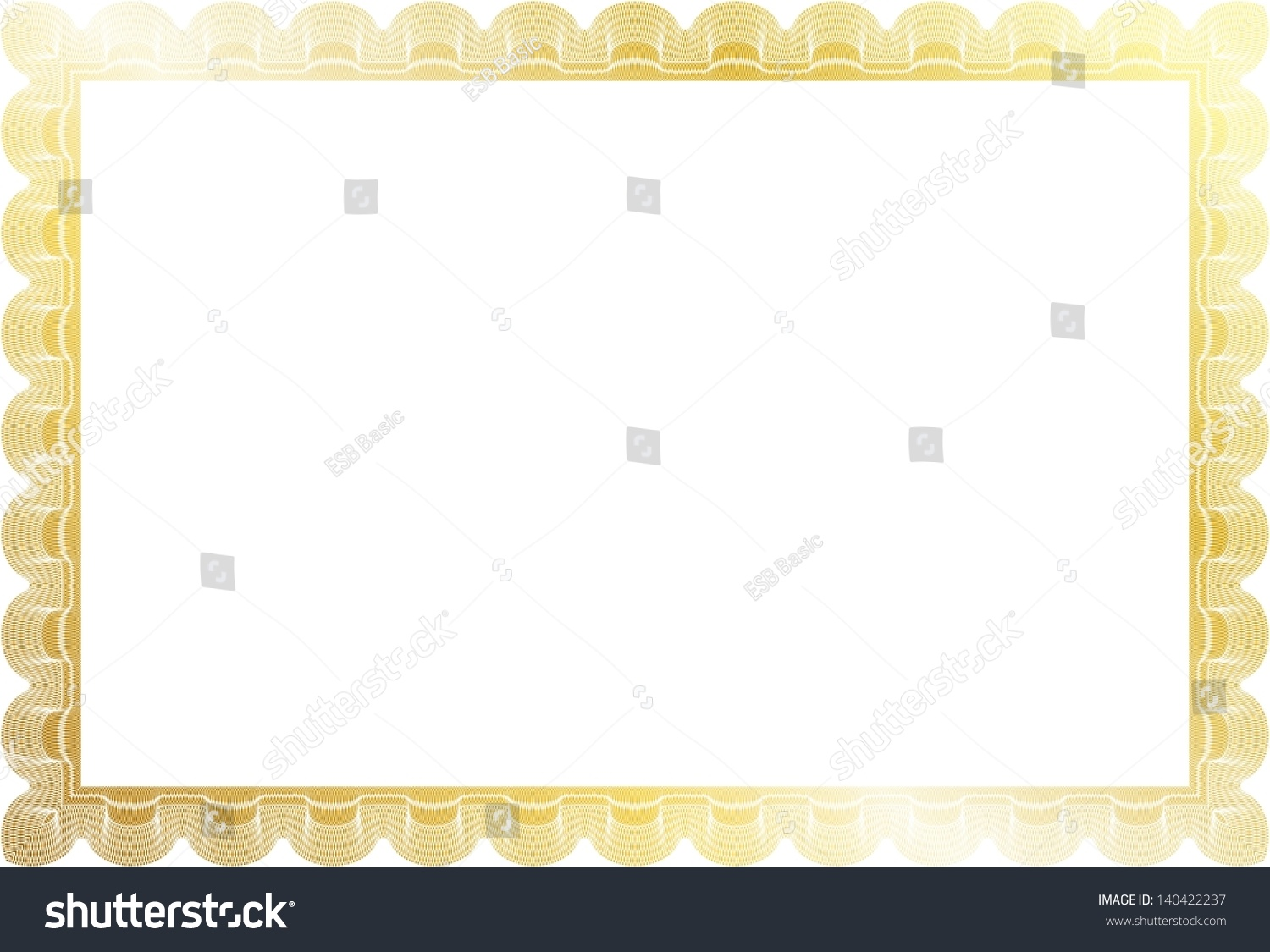 gold border certificate diploma coupon complex stock vector  gold border for certificate diploma or coupon complex design
