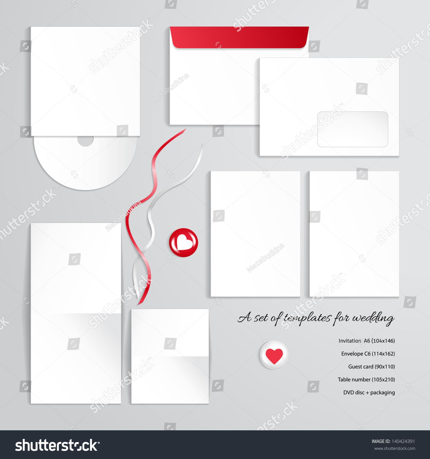 Vector Templates Design Wedding Invitation Envelope Stock Vector
