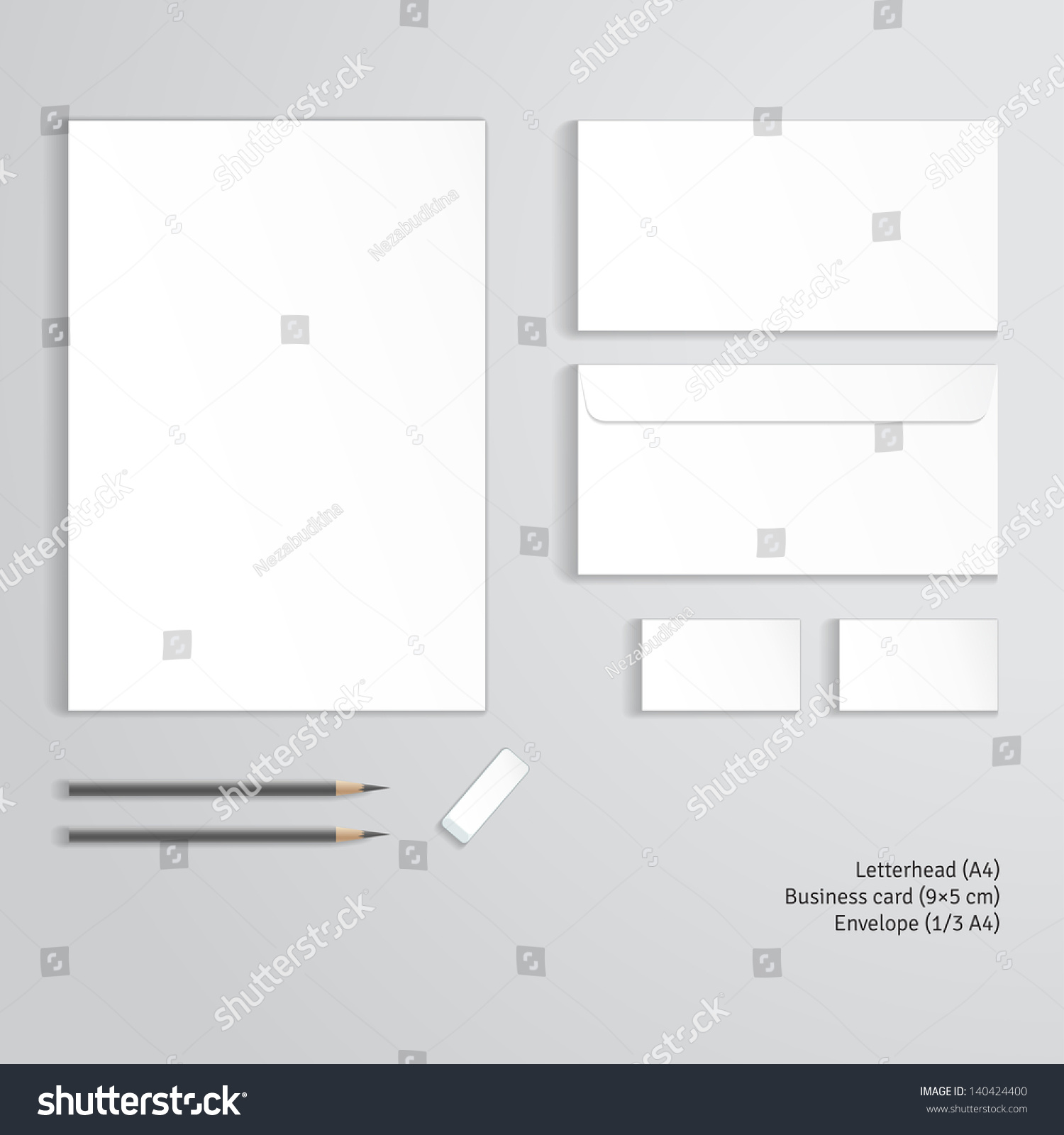 Vector Corporate Identity Templates Letterhead Envelope Stock ...
