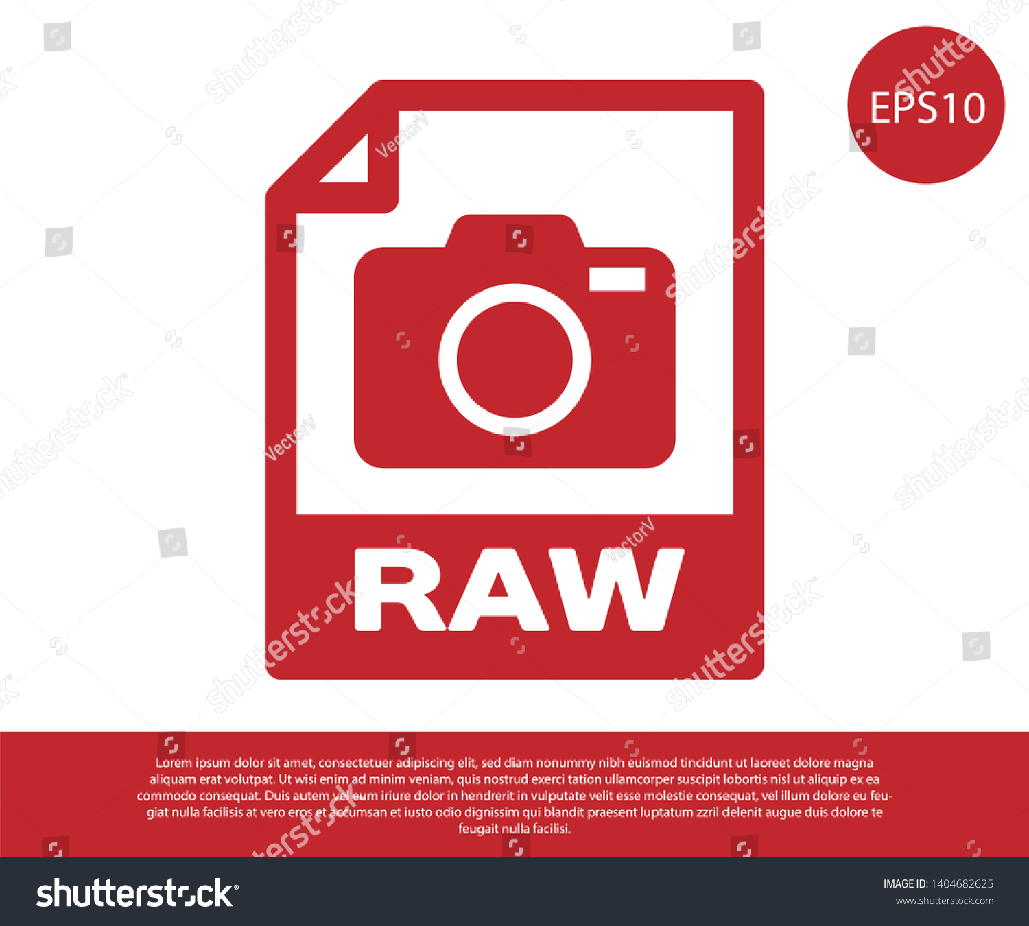 Red Raw File Document Icon Download Stock Vector (Royalty