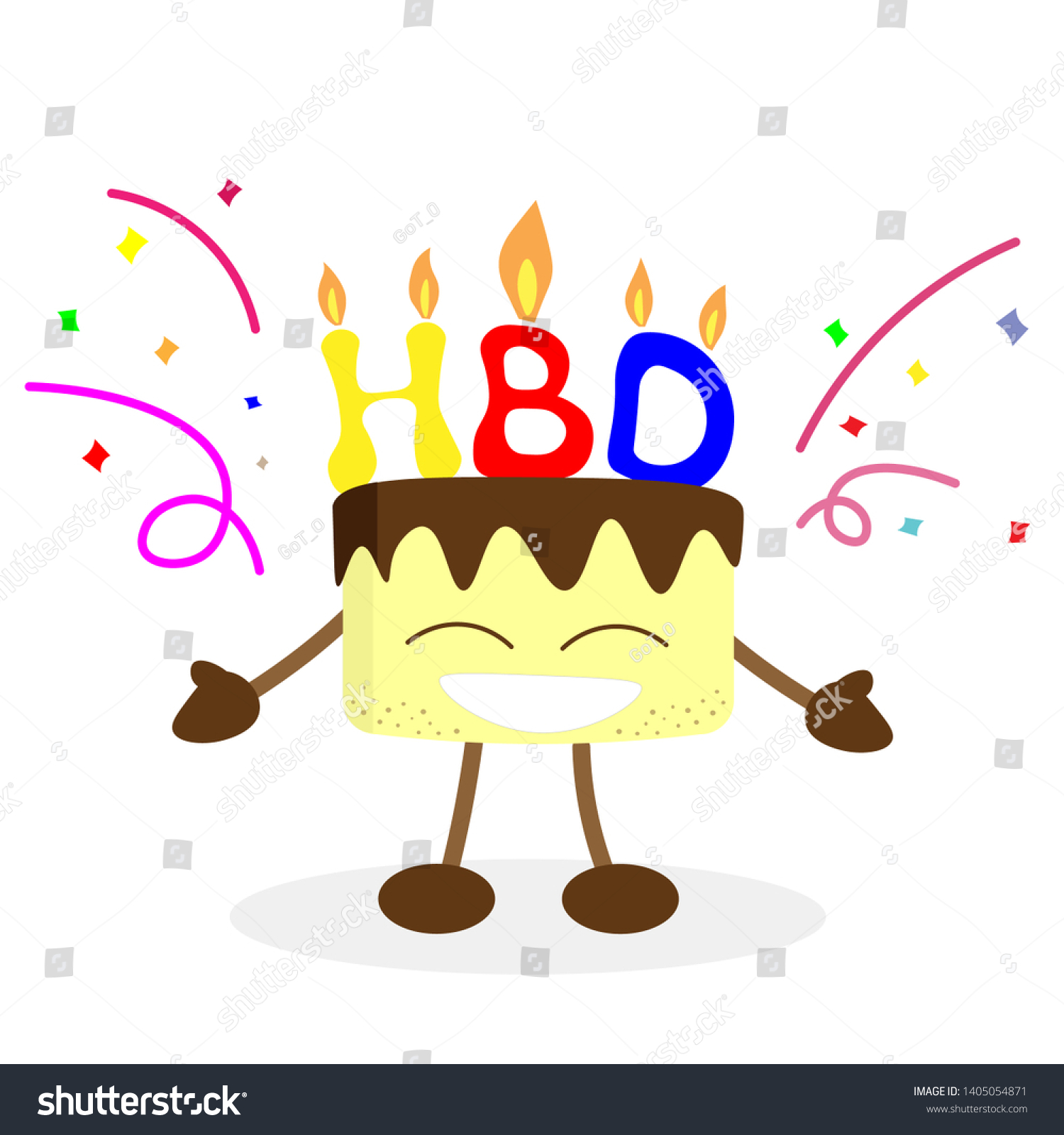 Stupendous Happy Birthday Font Cake Man Stock Vector Royalty Free 1405054871 Funny Birthday Cards Online Fluifree Goldxyz