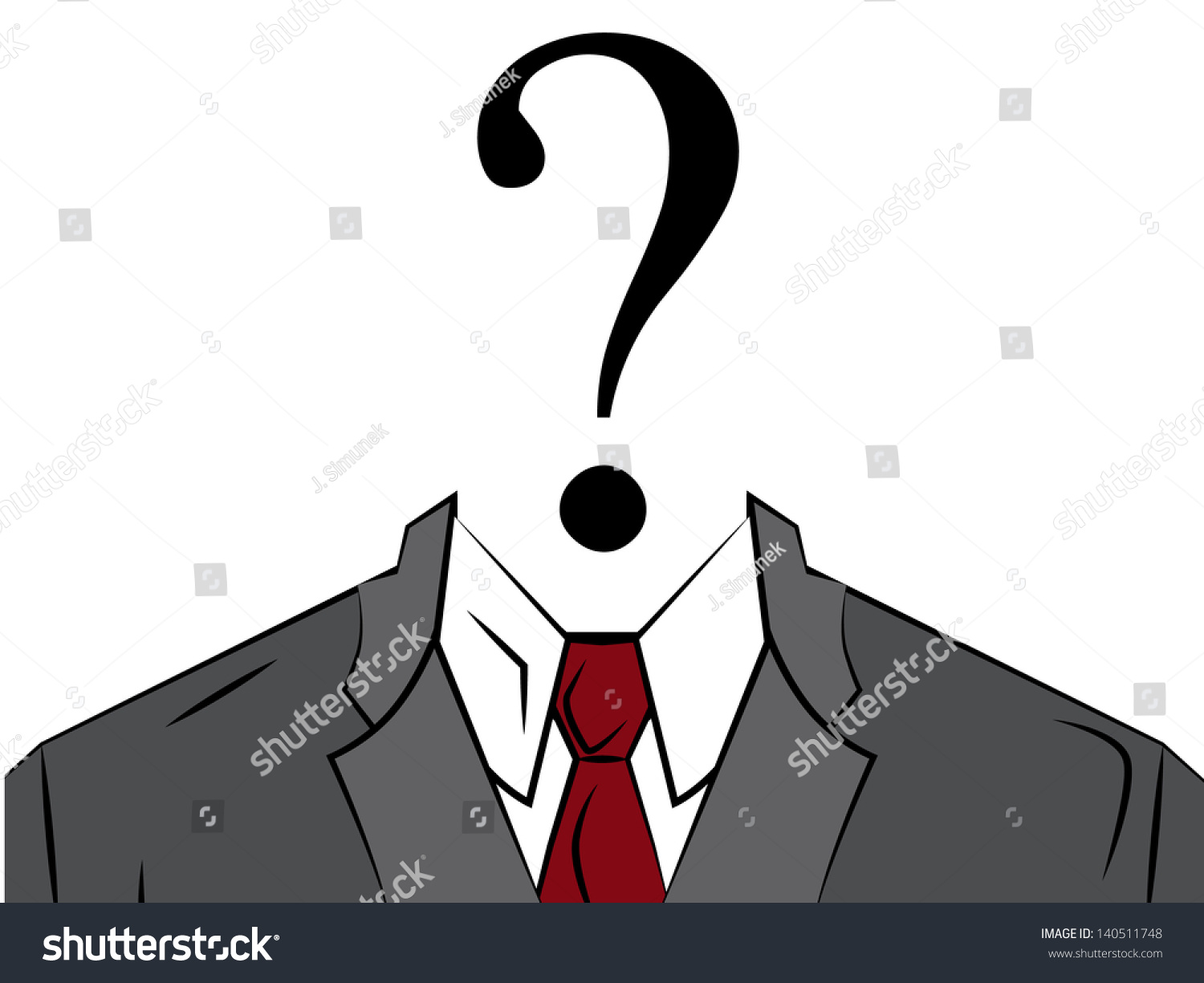 Anonymous Unknown Person Stock Vector 140511748 - Shutterstock