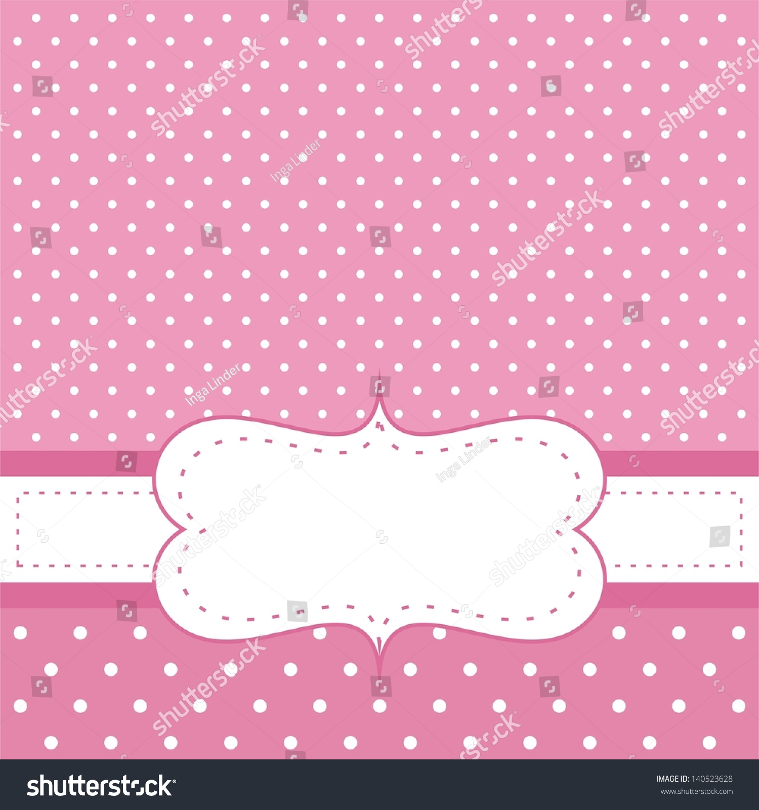 Pink Vector Invitation Card Baby Shower Stock Vector ...