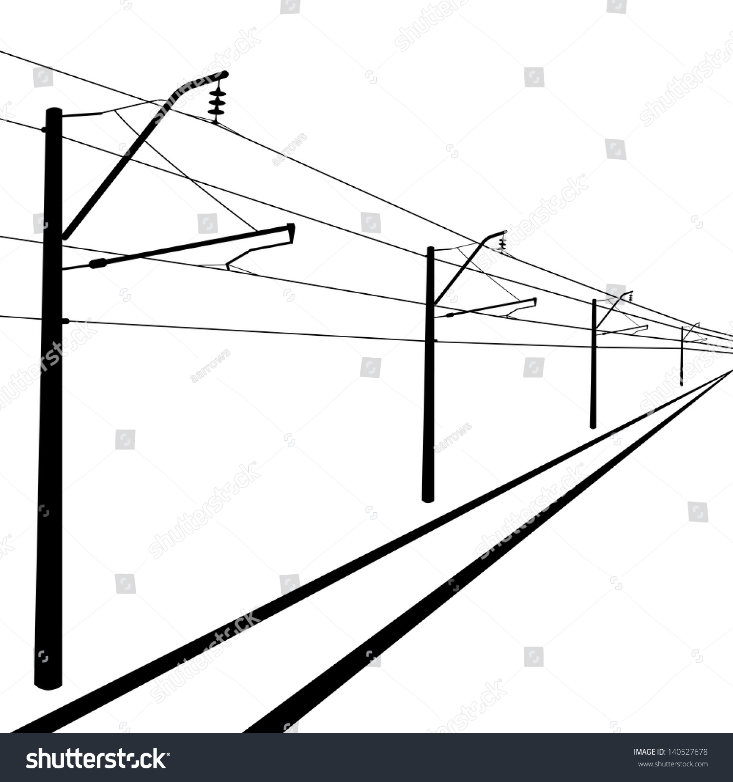 contact wire diagram railroad overhead lines contact wire vector stock vector  royalty  railroad overhead lines contact wire